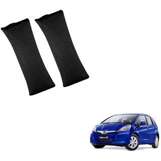 Auto Addict Car Seat Belt Cushion Pillow ( Black) -2 Pieces For Honda Jazz