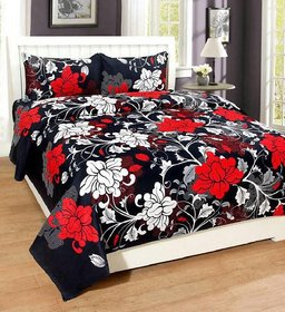 Lambosto 3d Double bedsheet with 2 pillow cover