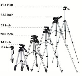 PERFECT NOVA 3110 Portable Adjustable Lightweight Camera Stand mobile Tripod  (Supports Up to 3000)