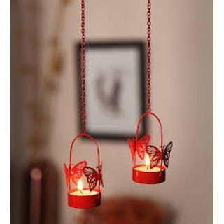 Sattva LIfe Butterfly Hanging Tea Light Holder Pack of 6