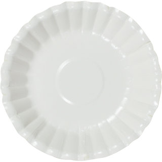 DevEuro 6 inch Flower Paper Biodegradable Bowl