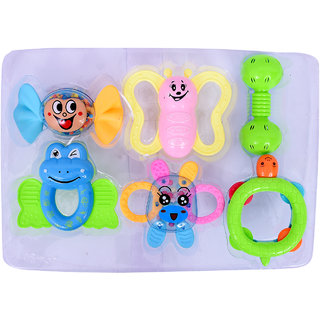 Colorful Flexible Attractive Non Toxic Rattle Set for Babies,Toddlers,Infants,Child