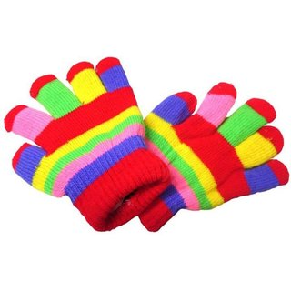 PLATINUM EXCLUSIVE Baby multi color fancy woolen gloves for Age 2-4 Year pack of 1 Pair
