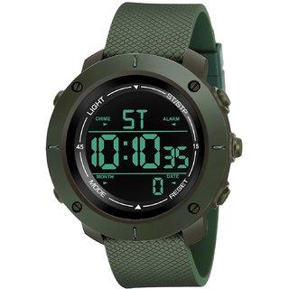 Espoir Waterproof Series Digital Black Dial Digital Boy's and Men's Watch - Green Digi Mark