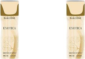 Ramsons EXOTICA Body Spray - For Men  Women,pack of 2,200 ml each.