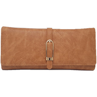 Rish 3 fold wallet for women - Texture Brown