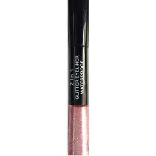 GABBU 2IN1 SHIMMER EYE LINER ( LIGHT PINK BLACK )
