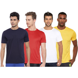 Concepts Multicolor Pack Of 4 Round Neck DriFit Tshirts