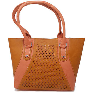 RISH Brown and Pink colour Handbags for women