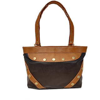 RISH Dual colour small Handbag - Black & Brown
