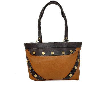 RISH Dual Colour Small Handbag - Brown & Black