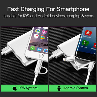 2 in 1 Lightning to Micro USB Cable 2.4A Charging Cable for iPhone 8 iPad Metal Fast Charger Data Cable for Samsung HTC