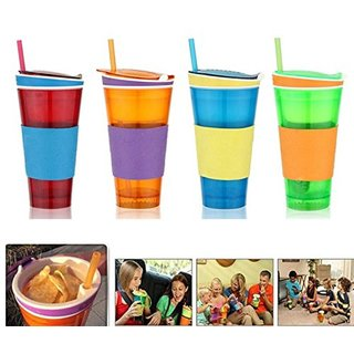 s4d 2 in 1 Snack Drink Snackeez Travel Cup - Multicolor