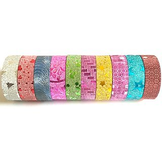Colourful Designer Glitter Tape(20 Pcs/Rolls)