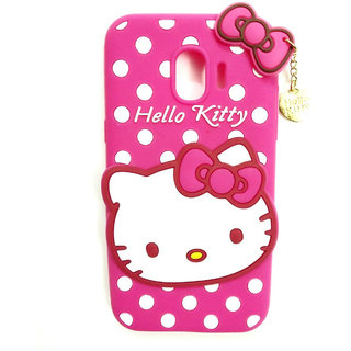 Imperium Hello Kitty Soft Silicon Back Case for Samsung Galaxy J4