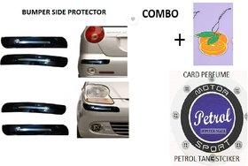 VG  Bumper  Set of 4 Car Side Protector Guard Plastice Chrome Black For Altok10