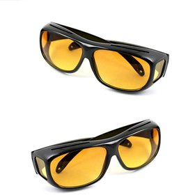 HD Wrap Night Vision Glasses Best Price Real Night Club Glasses Perfect Night Driving Glasses (AS PER SEEN ON TV)