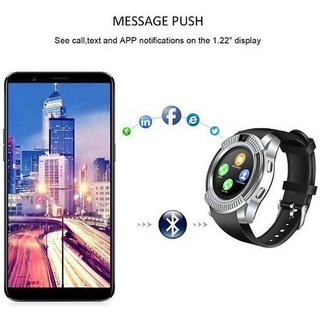 V8 smart watch Smart phones compatiable smart watch with camera  smart watch with TF card smart watch with sim card support fitness tracker bluetooth smart watchWrist Watch Phone 4G Smart WatchAny color  Compatible with smartphones