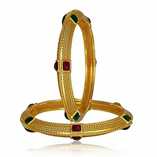 MOHNISH CREATION Designer Gold Plated Jewellery Pearl Studded Bangles for Women and Girls