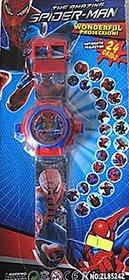 Spider Man character Projector Watch( Assorted color and design)