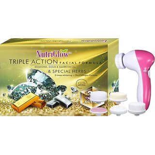 Tripal Action facial kit and Massager