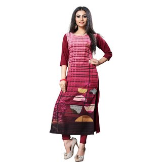 New Ethnic 4 You Woman's Crepe A-Line Kurti