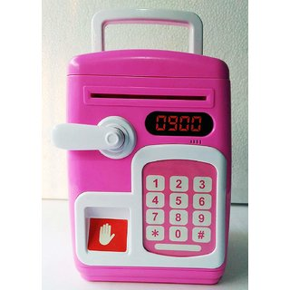 Fingerprint Sensing Money Saving Bank with Double Protected Password  Fingerprint Senser
