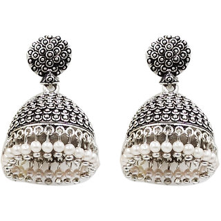MOHNISH CREATION Fashion Jewellery Oxidized Silver Stylish Fancy Party Wear Traditional Earring For Women Girls
