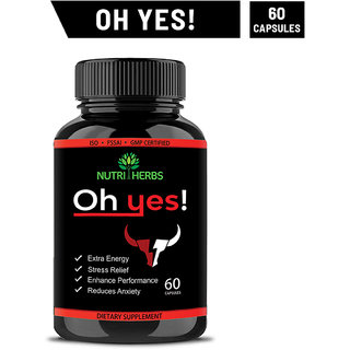 Nutriherbs Ohyes Capsule Works As Strength and Stamina Booster For Men Provides Extra Energy For Male Performance 60 Capsules