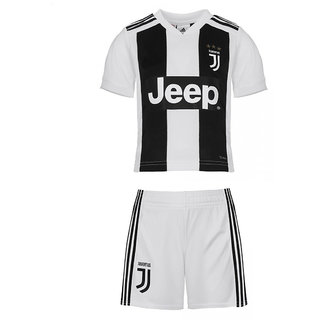 low priced 90ccd 040aa Juventus kids half sleeve black white colour polyester dri fit football  jersey