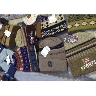 mayur woolen caps (pack of 3)
