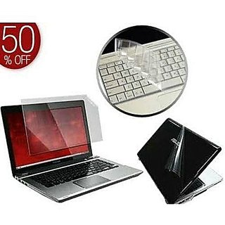Tech Gear 3 in 1 Laptop Skin Pack with Screen Protector Key Skin and Transparent Laptop Skin for 15.6 Inches Laptop