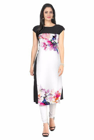 New Ethnic 4 You Woman's Multicolor Digital Print Crepe Stitched Kurti
