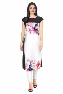 8843c10788 New Ethnic 4 You Woman's Multicolor Digital Print Crepe Stitched Kurti