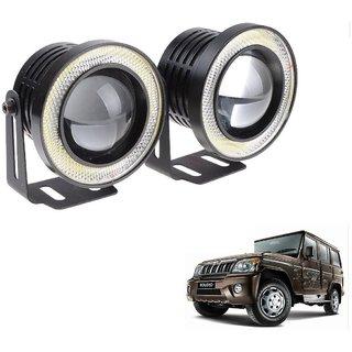 Auto Addict 3.5 High Power Led Projector Fog Light Cob with White Angel Eye Ring 15W,Set of 2 For Mahindra Bolero