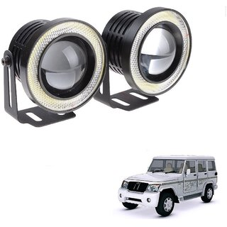 Set of 2 Auto Addict 3.5 High Power Led Fog Light White Angel Eye Light 15W For Mahindra Bolero XL