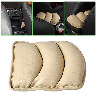 Car Armrest Cushion Beige For All Cars ( Universal Size )