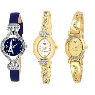 Swadesi Stuff BANGLE Multi DIAL ELEGANCE NEW ARRIVAL Luxury Ethnic Multi Bracelet Look Watch - for Women  Girls kc16