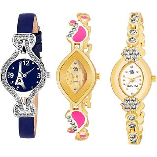 Swadesi Stuff BANGLE Multi DIAL ELEGANCE NEW ARRIVAL Luxury Ethnic Multi Bracelet Look Watch - for Women  Girls kc17