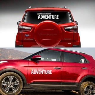 CarMetics Nat Geo ADVENTURE car bonnet door offroad explorer wild life  decals stickers exterios graphics logo emblem accessories for Maruti Suzuki