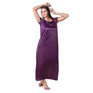 RamE Mahroon Women's short and Saxy  Night Dress