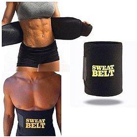 Discount Point Regular Sweat Belt Slimming Belt for Lower Body (Black) 1 Pc