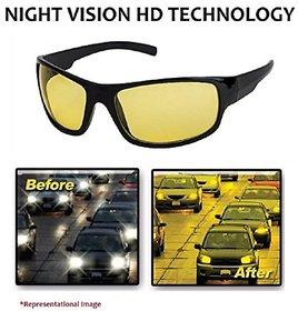 Adam Jones Yellow & Black Night Vision Free-size Full Rim Wrap-around Non-Metal Unisex Sunglasses