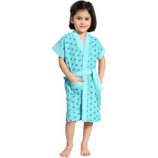 882ce55d43d7 Buy Be You Kids Cotton Polka Dots Blue Bath Gown   Bathrobe for Boys ...