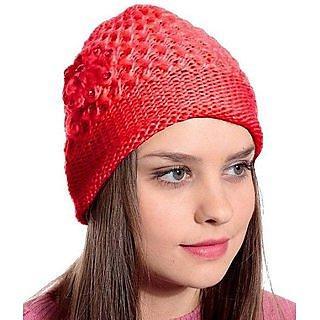 Wow ladies woolen cap (pack of 2)