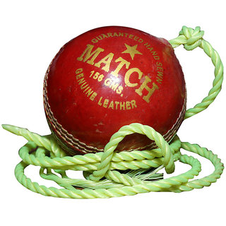 Port Genuine Leather Cricket Red Practice Ball