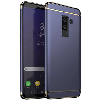 Wondrous Luxury 3in1 Electroplated Hard PC Back (Matte Finish) Case Cover for Samsung   Galaxy J8