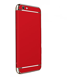 Wondrous Luxury 3in1 Electroplated Hard PC Back (Matte Finish) Case Cover for Vivo  V5