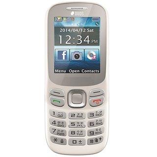 Pear P312 Dual Sim, 1.8 inches (4.57 cm), 1100mah battery, mobile phone (White)