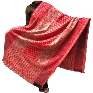 Varun Cloth House Womens Woollen Embellished Thick Shawl (vch5443, Red, Free Size)